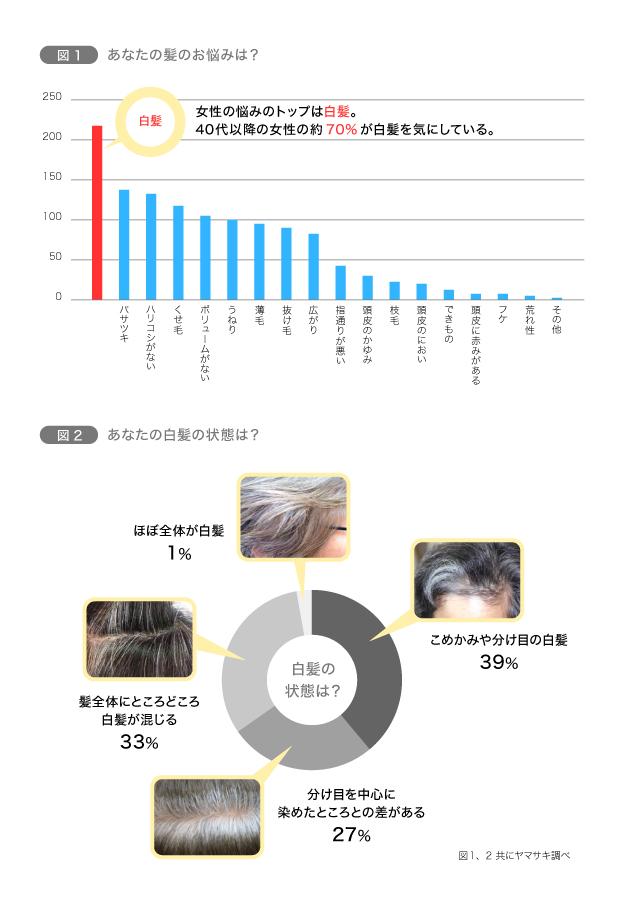 40歳以上の女性の髪の悩み、第1位は… 図